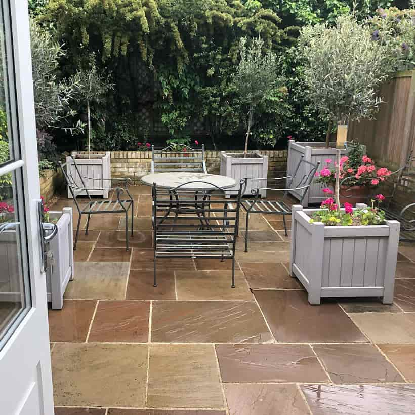 Finished landscaping project in Wimbledon